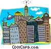 Vector Clip Art picture  of a city scape