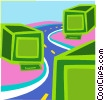 Vector Clip Art graphic  of a information highway