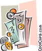 Vector Clipart picture  of a finance