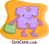 Vector Clip Art image  of a piece of the puzzle