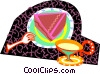 Vector Clip Art graphic  of a dessert time