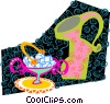 Vector Clipart illustration  of a coffee time