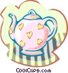 Vector Clip Art image  of a tea pot