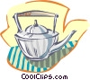 tea pot Vector Clipart graphic