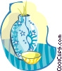 flower vase Vector Clipart illustration