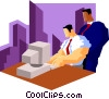 business man observation Vector Clip Art graphic