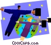 business people flying Vector Clipart picture
