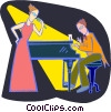 Vector Clip Art graphic  of a lounge act