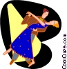dancing couple Vector Clipart picture