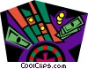 Vector Clip Art graphic  of a gambling