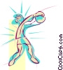 Vector Clipart illustration  of a volleyball player