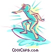 surfing Vector Clipart illustration