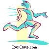 runner Vector Clipart picture