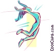 long jump Vector Clipart picture