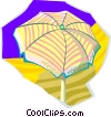 Vector Clipart illustration  of a sun umbrella