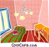 Vector Clip Art image  of a house interior