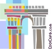 European architecture Vector Clipart picture