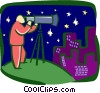 Vector Clip Art graphic  of an astronomy