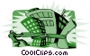 Vector Clip Art graphic  of a squeezing the market