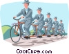 Vector Clipart graphic  of a Business / working together