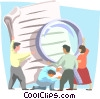 business / taking a closer look Vector Clipart illustration