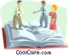 Vector Clip Art image  of a business / team work