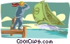 your ship sailing in Vector Clip Art image