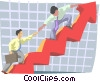 Vector Clip Art graphic  of a Business / working toward