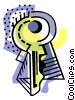 Vector Clip Art picture  of a business / key to success