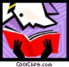 Vector Clipart picture  of a Person reading a book