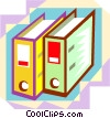 office binders Vector Clipart graphic