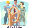 Business / navigating the markets Vector Clipart picture