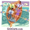 Vector Clip Art graphic  of a Business / weathering the
