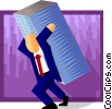 Vector Clipart graphic  of a hard work