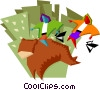 riding the bear market Vector Clipart picture