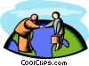 global cooperation Vector Clipart picture