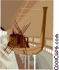 History museum/ancient boat Vector Clip Art picture