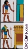 Vector Clip Art image  of an ancient Egypt