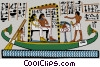Vector Clip Art graphic  of an ancient Egypt