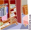 Vector Clip Art picture  of a bedroom