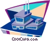 Vector Clipart picture  of a industry buildings