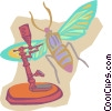 Vector Clip Art picture  of a old fashioned microscope
