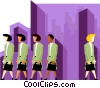 business women, one leaving Vector Clip Art graphic