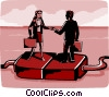 business meeting on plugs Vector Clip Art picture