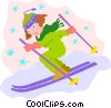 Vector Clipart illustration  of a skiing