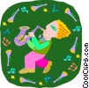 boy playing saxophone Vector Clip Art picture