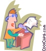 announcer Vector Clipart image