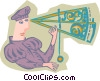 Vector Clipart illustration  of a navigator