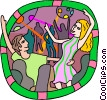 Vector Clipart illustration  of a People dancing at the