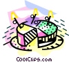 Vector Clip Art picture  of a cake